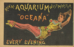 Advert for the Royal Aquarium